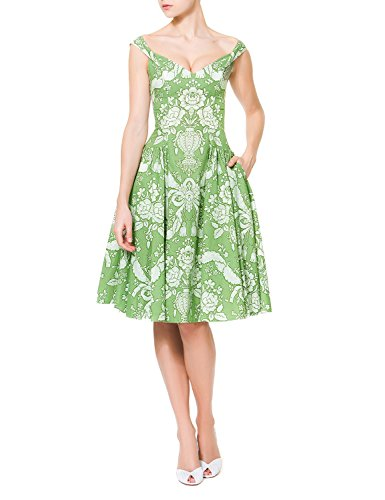 60s green dress - 8