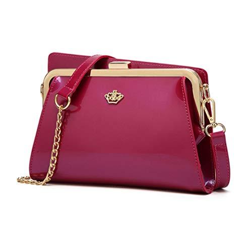 de Mujer y clutches de Bolsos y Carteras bolsos DEERWORD mano bandolera Roja hombro Shoppers Rosa zqWdf