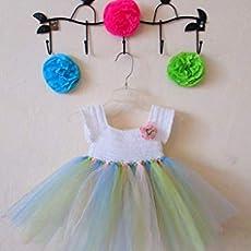 Vestido De Crochet Con Tul Para Niña Bebé Colores