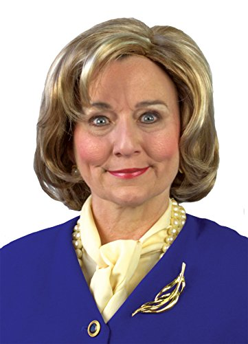Nintendo Hillary Candidate Wig, Multi-colored, One -