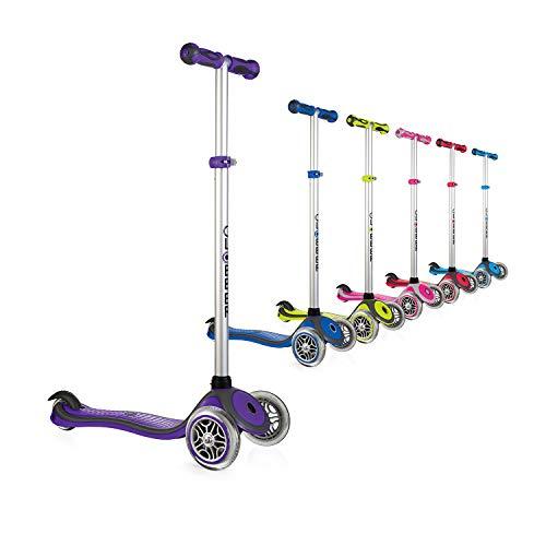 Globber 3 Wheel Adjustable Height Scooter (Dark Purple/Gray)