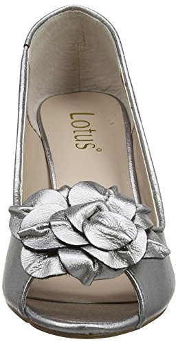 Lotus Belinda, Escarpins Salomés Femme Grau (Light Pewter Leather)