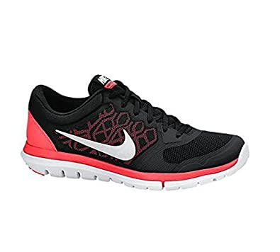 purchase cheap 14fad c6f4b Nike Damen WMNS Flex 2015 RN Laufschuhe, Black (SchwarzWeiß-Hot Lava