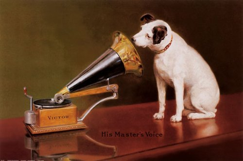 - His Master's Voice Dogs Vintage Posters Prints 36x24 Poster