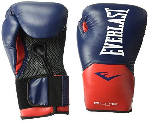 Everlast Elite Pro Style Training Gloves, Blue/Red, 14 oz
