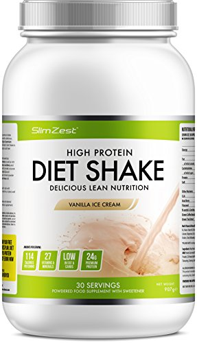 Delicious Vanilla Diet Meal Replacement Powder Shake - Super Convenient...