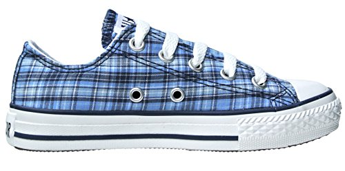 Converse Chucks EU 29 UK 12 Blau Texas Plaid Kariert - Ox - Flache Sneakers