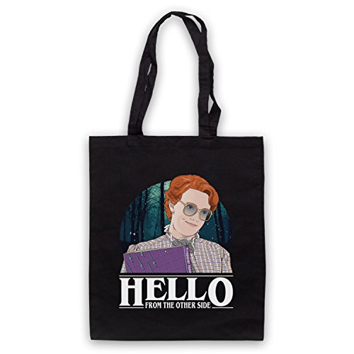 Stranger Things Barb Hello From The Other Side Bolso Negro