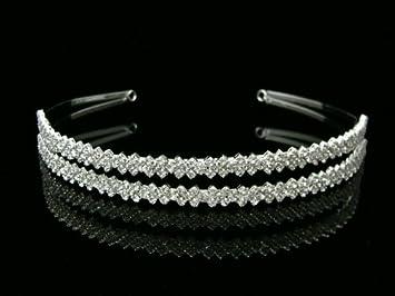 Simple Rhinestone Crystal Bridal Wedding Headband Tiara