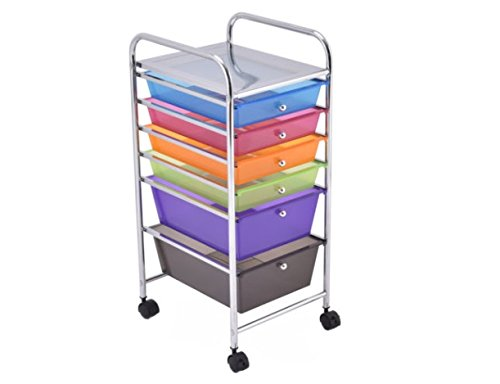 6 Drawer Rolling Storage Cart Tools Scrapbook Paper Office School Organizer New - Brands Sunglass List Men For