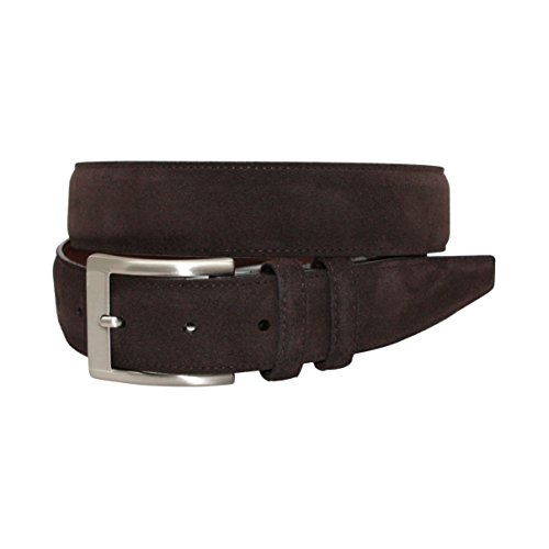 Suede Mens Leather Brown (Torino Leather Co. Men's 35MM Italian Calf Suede Brown Belt 40)