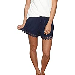 haoricu Women Shorts, 2017 New Women Summer Sport Casual Shorts Pants (XL, ❤️Blue)