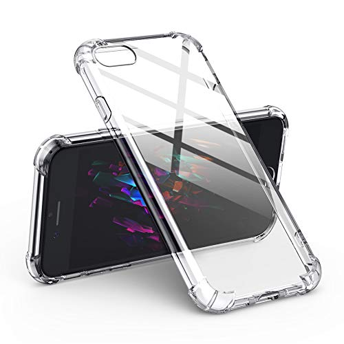 UGREEN Clear Case for iPhone 7/8 Transparent Shockproof Bumper Case Soft TPU Protective Mobile Phone Gel Skin Cover Compatible with Apple iPhone 7 8 4.7 inch Anti-Scratch Clear White from UGREEN