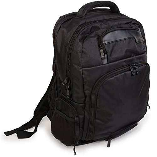 (Jambag Powerbag Backpack by Que: Bluetooth Speakers, Charging Station, Protected Laptop Sleeve. Hidden Valuables Pocket. Perfect for Travel (Black))