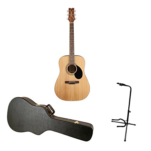 Jasmine S35 Acoustic Guitar  with Guitar Case and Tripod Sta