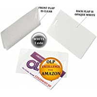 White/Clear Luggage Tag Laminating Pouches 2-1/2 x 4-1/4 Qty 50 by LAM-IT-ALL