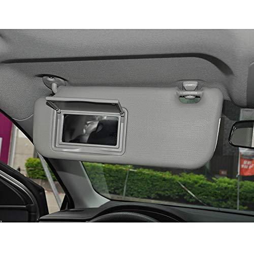 Gavita-Star - Beige Gray Car Sun Visor Makeup Mirror For Toyota Corolla Levin 2014- Windscreen Sun Visor Auto Accessories