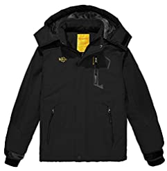Wantdo Boy's Waterproof Ski Fleece Jacke...