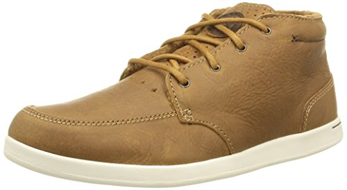 Reef Mens Spiniker Mid LS Fashion Sneaker Wheat