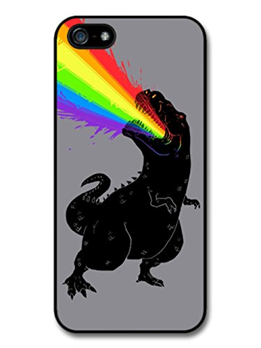 T-Rex Dinosaur Puking Rainbow Illustration coque pour iPhone 5 5S