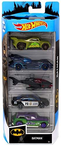 Hot Wheels 2019 Batman 1:64 Scaled 5-Pack ()