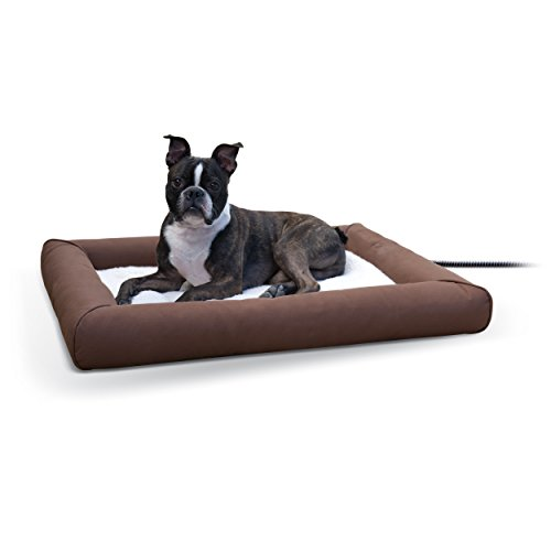 K&H Pet Products Deluxe Lectro-Soft Outdoor Heated Bed Medium Chocolate/Tan 26.5' x 30.5' 40W