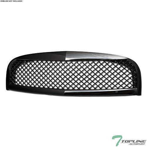 (Topline Autopart Black Sport Mesh Style Front Hood Bumper Grill Grille Cover ABS 06-10 Chevy HHR )