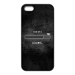 iPhone 4 4s Cell Phone Case Black quotes parallax life loading FY1495969