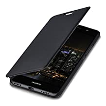 kwmobile Practical and chic FLIP COVER protective shell for Huawei Y6 (2015) in black