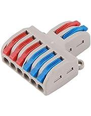 BIlinli 5 stuks SPL-42/62 2 ingangen 4/6 uitgangen mini-kabelverbinder, snelverbinder, kabelverbinder, universele geleider, insteekbare ledlamp