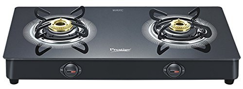 Prestige Royale Plus Aluminum 2 Burner Gas Stove, Black (40109) by Prestige