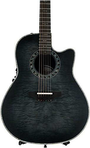 Adamas Acoustic Electric Guitar (Ovation Legend Plus - Transparent Black)