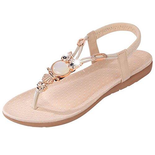 SUNAVY - Zapatos con tacón Mujer Beige