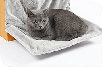 Amazon.com : Hu Plush Cat Radiator Bed Super Soft Hammock Puppy Kitten Nesting Beds W~W (Color : Grey) : Pet Supplies