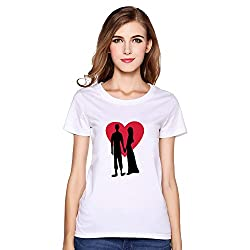 Valentine's Day Love Romantic Couple Love 100% Cotton T-Shirt Custom For Women