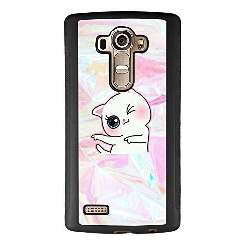 Ademen LG G4 Case, Cat Wink Design Hard PC Soft Silicone Protective Durable Shockproof Case for LG G4