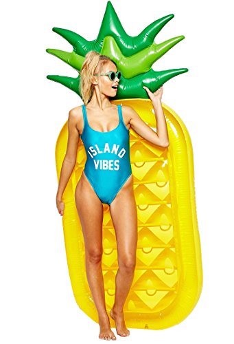 Pineapple Float,LetsFunny pool floats Inflatable Pineapple Tropical Summer Pool Floats For Adults Kids Outdoor Swimming Pool Large Floatie Lounge Party Toys Fruit Floaty Lounger Float