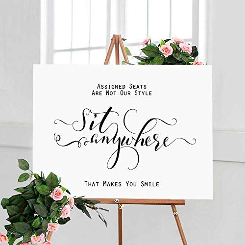 Amazon Wedding Seating Sign No Seating Plan Sign Decor Wedding