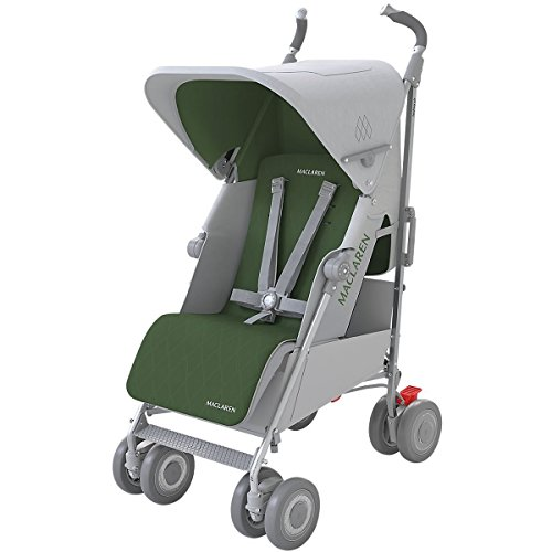Maclaren Techno XLR Stroller, Silver/Highland Green