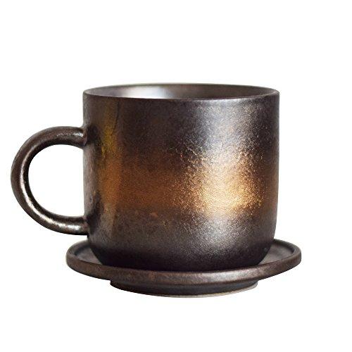 Original Ceramic Handmade Art Metal Visual Retro Style Coffee Mug Cup (7CM8CM)