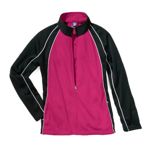 """The """"Kids' Collection"""" Girls' Olympian Warm-up Jacket from Charles River Apparel"""