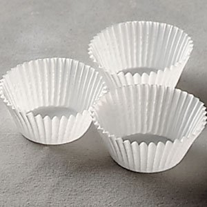 White Mini Muffin Cupcake Baking Cups ~ Size: 1.5'' Base, 1'' Side Wall, 3.5'' Circle ~ 1000 Papers
