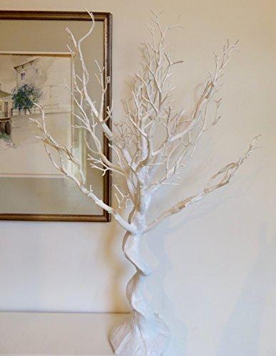 Sintetica de boda color blanco Manzanita arbol. Uso en interiores. Altura: 77cm (mas de 30pulgadas)