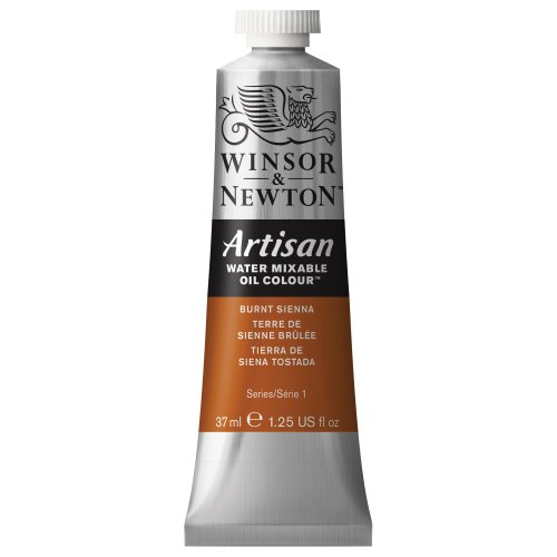 Winsor & Newton 1514074 Artisan H20 Oils 37ML.BT.Siena 3BX, 37-ml Tube, Burnt Sienna