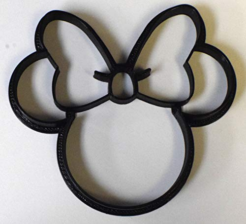 MINNIE MOUSE HEAD CARTOON DISNEY CHARACTER COOKIE CUTTER FONDANT BAKING TOOL USA PR530S]()