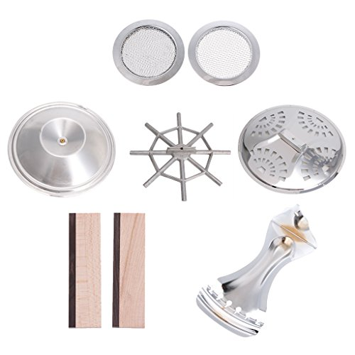 ULKEME 8pcs Resonator Cones Soundhole Screens Tailpiece Bridge Saddle for Dobro Guitar