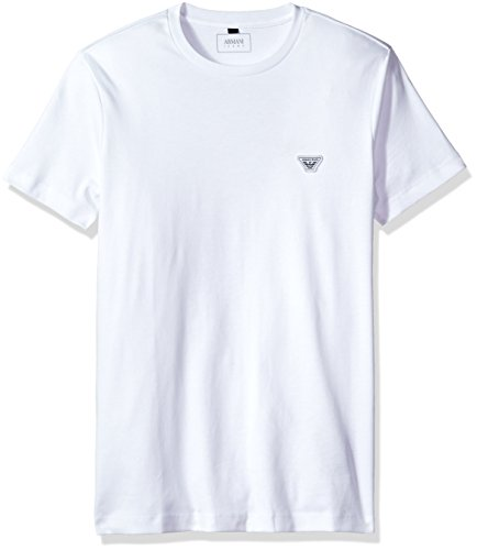Armani Cotton Jeans - ARMANI JEANS Men's Plus Size Cotton Jersey Small Eagle Logo T-Shirt, White, Medium
