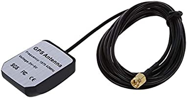 SODIAL(R) Conector Antena GPS 3M RP-SMA Macho para Coche Universal ...