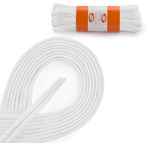 OrthoStep Oval Athletic White 54 inch Shoelaces 2 Pair Pack