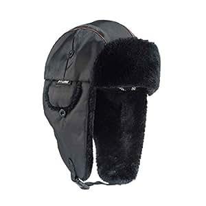 a51c0afabb Amazon.com: Ergodyne N-Ferno 6802 Thermal Winter Trapper Hat, Black ...
